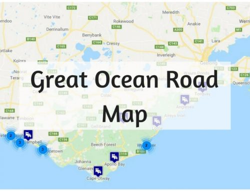 Map of the Great Ocean Road
