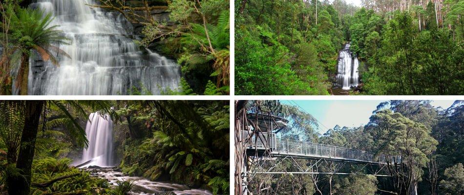 Waterfalls of the Great Otways Ranges National Park, Great Ocean Road.