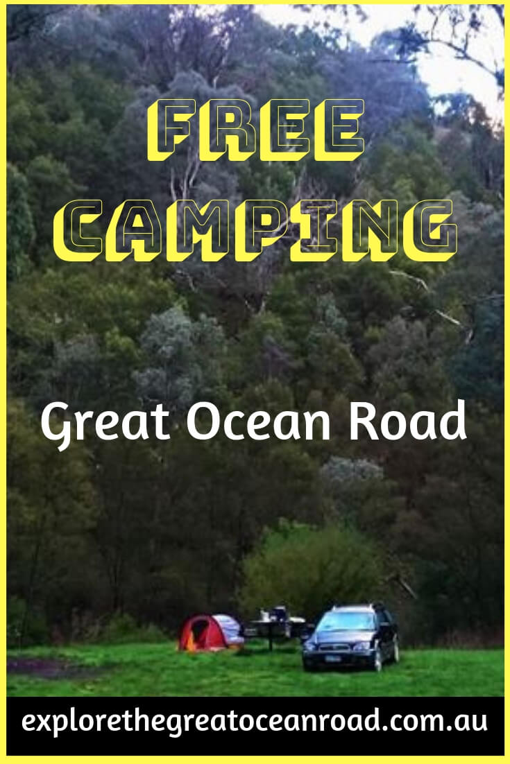 Camping sites along the Great Ocean Road and Otways