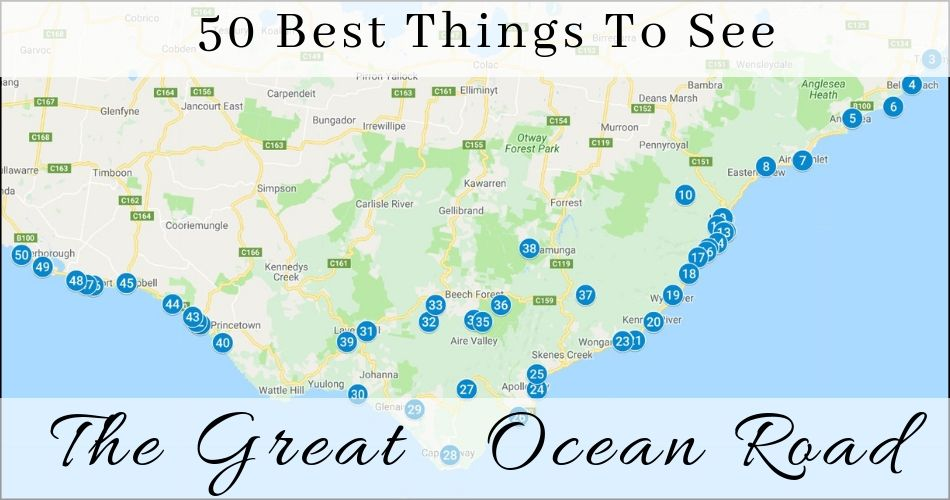Great Ocean Road Map - 50 Of The Best Things to See | 12 ... on awesome map, love map, a united states map,